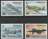 Bermuda SG687-690 1993 75th Anniversary of Royal Air Force set 4v complete unmounted mint